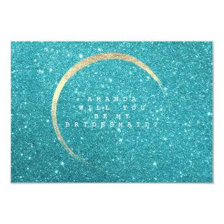 Você será meu brilho do ouro de Tiffany da dama de Convite 8.89 X 12.7cm