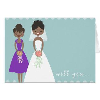 Você será meu cartão 2 da madrinha de casamento