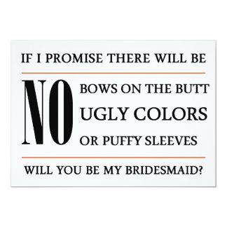 Você será meu cartão da dama de honra