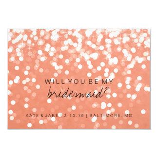 Você será meu cartão da dama de honra - rosa convite 8.89 x 12.7cm