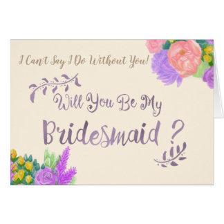 Você será meu cartão da flor da dama de honra
