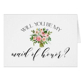 Você será meu cartão da madrinha de casamento