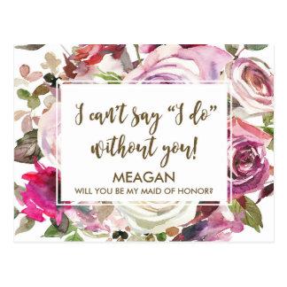 Você será meu cartão da madrinha de casamento cartão postal