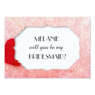 Você será meu cartão de casamento da dama de honra convite 12.7 x 17.78cm