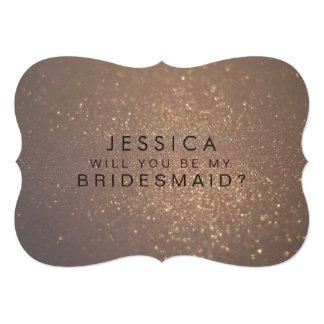 Você será meu cartão do brilho do ouro da dama de convite 12.7 x 17.78cm