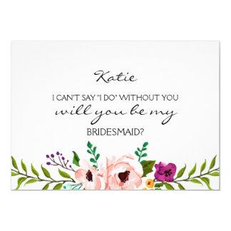 Você será meu cartão floral da dama de honra