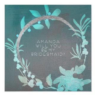 Você será meu círculo Tiffany da prata da dama de Convite Quadrado 13.35 X 13.35cm