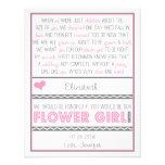 Você será meu florista? Cartão cor-de-rosa/cinzent
