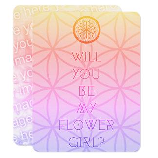 você será meu florista sagrado? convite 10.79 x 13.97cm