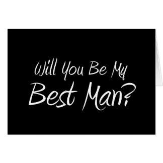 Você será meu melhor homem? Cartão