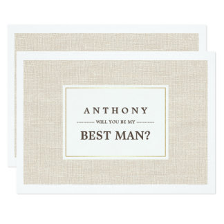 Você será meu melhor homem? Convites feitos sob