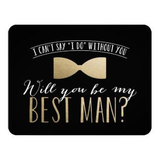Você será meu melhor homem? padrinhos de casamento convite 10.79 x 13.97cm