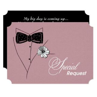 Você será meu padrinho de casamento? Cartões Convite 12.7 X 17.78cm