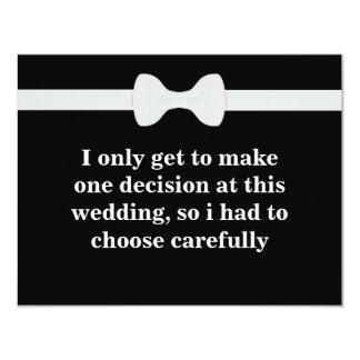 Você será meu padrinho de casamento? convite 10.79 x 13.97cm