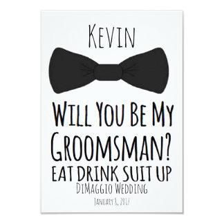 você será meu padrinho de casamento? Convite de