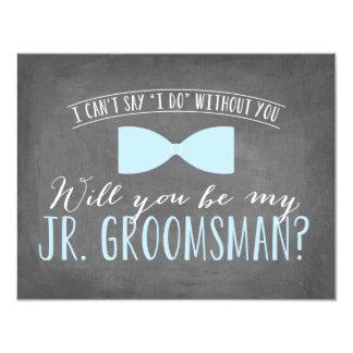Você será meu padrinho de casamento júnior? convite 10.79 x 13.97cm