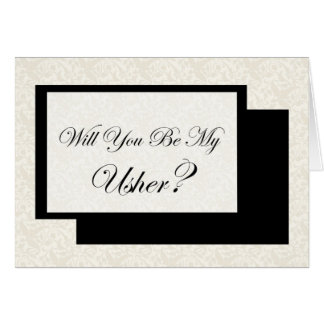 Você será meu Usher? Cartão Comemorativo