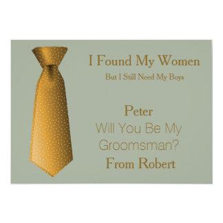 Você será meus ouro do padrinho de casamento & convite 12.7 x 17.78cm