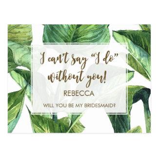 você será meus trópicos das folhas de palmeira do cartão postal