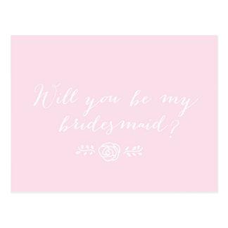 Você será minha dama de honra? - Cartão