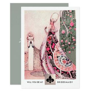 Você será minha dama de honra? Cartões do convite