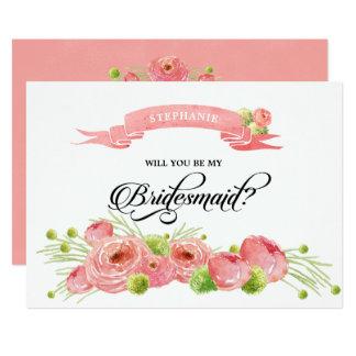 Você será minha dama de honra? Cartões feitos sob