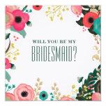 Você será minha dama de honra? Cartões feitos sob Convites Personalizados