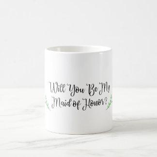 Você será minha madrinha de casamento? caneca de café