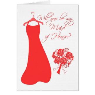 Você será minha madrinha de casamento? cartão comemorativo