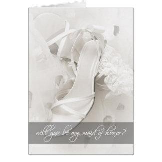 Você será minha madrinha de casamento? cartão de nota