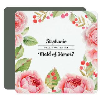 Você será minha madrinha de casamento? Cartão liso
