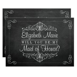 Você será minha madrinha de casamento? Cartões do Convite 12.7 X 17.78cm