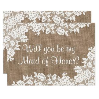 Você será minha madrinha de casamento? convite 12.7 x 17.78cm