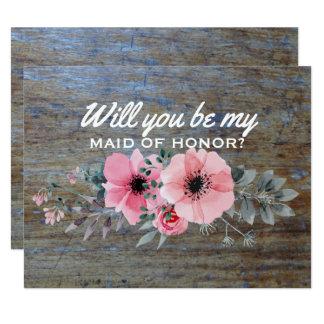 Você será minha madrinha de casamento da madrinha convite 10.79 x 13.97cm