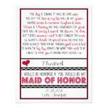 Você será minha madrinha de casamento? Poema verme Convites Personalizado