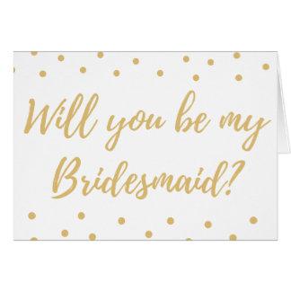 Você será seja minha dama de honra? Cartão de