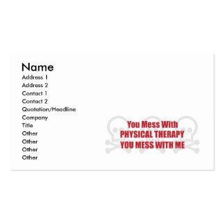 Você suja com fisioterapia que você suja comigo cartão de visita