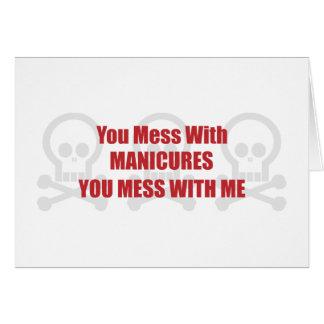 Você suja com Manicures que você suja comigo Cartao
