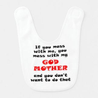 Você suja com minha madrinha babadores para bebes