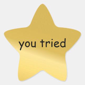 Você tentou a etiqueta da estrela