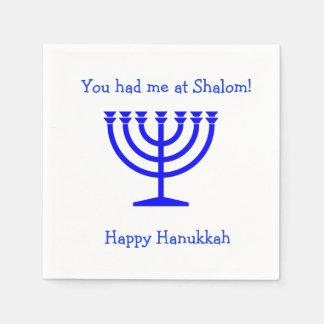 Você teve-me em guardanapo Hanukkah do cocktail de