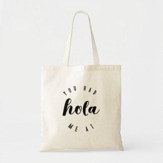 Você teve-me no bolsa espanhol minimalista do amor