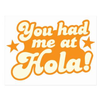 Você teve-me no cumprimento espanhol mexicano de H Cartão Postal