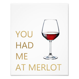 Você teve-me no Merlot Foto