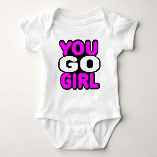 Você vai menina body para bebê