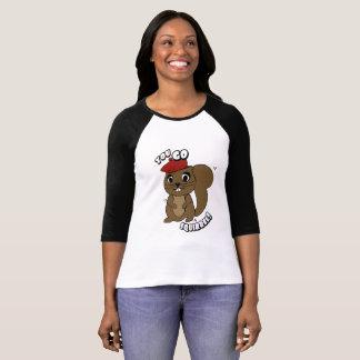 Você vai T do Raglan das mulheres do esquilo Camiseta
