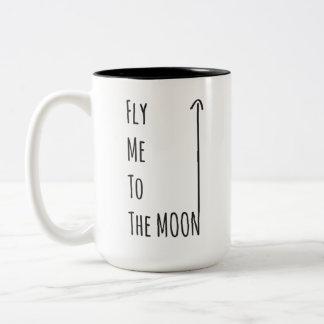 Voe-me à lua - a caneca sem glúten do nerd