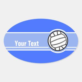 Voleibol; Azul Adesivos Ovais