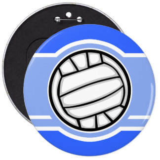 Voleibol Azul Boton