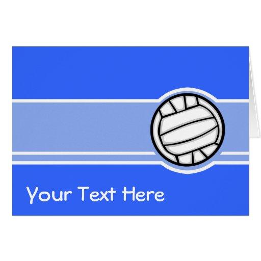 Voleibol; Azul Cartão